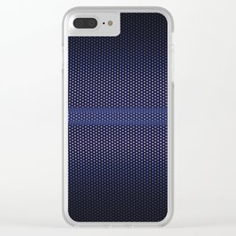 BLUE MESH Clear iPhone Case