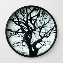 Tree Silhouette - Blue Wall Clock