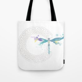 Celtic Knot Dragonfly Tote Bag