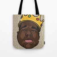 notorious big Tote Bags featuring Notorious by DollarsandCents