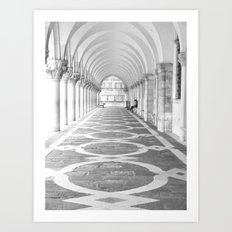 Arcades of the Doges Palace, early morning Art Print