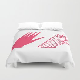 Hand and glove Duvet Cover