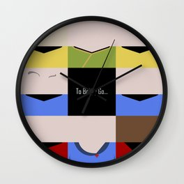 To Boldy Go - square - Star Trek The Original Series TOS - startrek Trektangle Kirk Spock Bones  Wall Clock