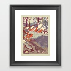 Fisher Fox Framed Art Print