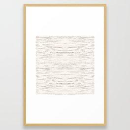 Meteor Stripes - Off White Framed Art Print