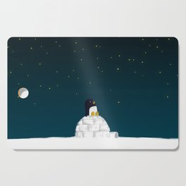 Star gazing - Penguin's dream of flying Cutting Board