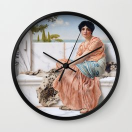 In the Days of Sappho Wall Clock