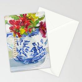 Bouquet in Blue Willow Stationery Cards