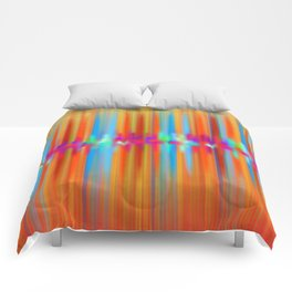 Seismic Shift Fiery Clouds Comforters