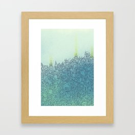 A Quiet Raft Framed Art Print