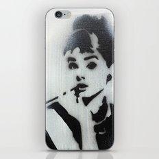 AUDREY HEPBURN STENCIL iPhone & iPod Skin