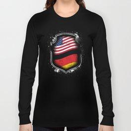 German American Flag Long Sleeve T-shirt