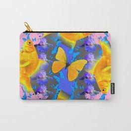 GOLDFISH & BUTTERFLIES PINK NURSERY ART Carry-All Pouch