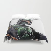 boba fett Duvet Covers featuring Boba Fett by Richard Stuart MacFarlane