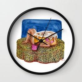 Call Cinnamon Bun Wall Clock
