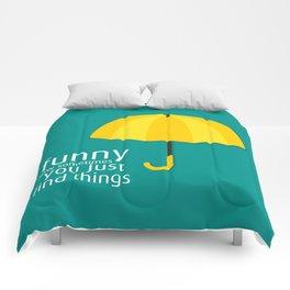 Yellow Umbrella Comforters