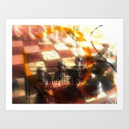 chess encounter Art Print