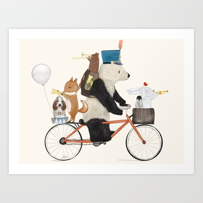off to band camp Art Print