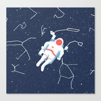 spaceman Canvas Prints featuring Spaceman by James White