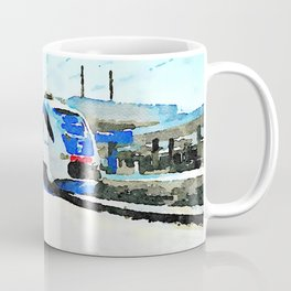 Pescara railway station: train stopped at the station Coffee Mug