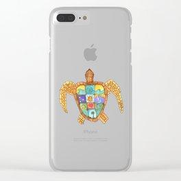 Sunny Sea Turtle Clear iPhone Case
