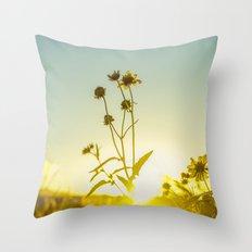 Sunlit Flowers  Throw Pillow
