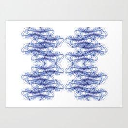 Threads Blue. Art Print
