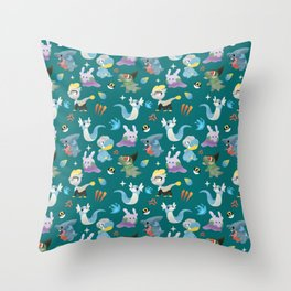 Dragon Dance Throw Pillow