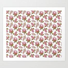King Protea Delight Art Print