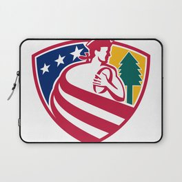 American Patriot Rugby Shield Laptop Sleeve