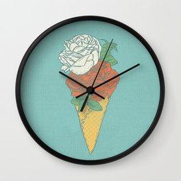 Rose ice cream Wall Clock
