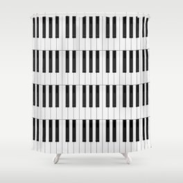 Piano / Keyboard Keys Shower Curtain