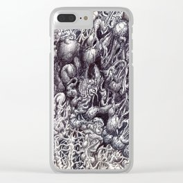 Organic Eruption by Brian Benson Clear iPhone Case