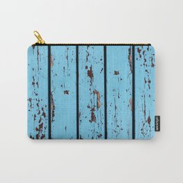 Blue Wooden Planks Carry-All Pouch