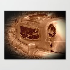 The Old Car In The Woods Canvas Print