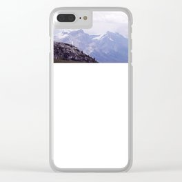 Purple and Pines Clear iPhone Case