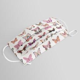 Pink Butterflies Face Mask