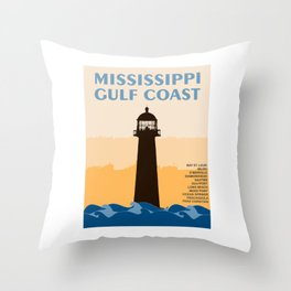 Mississippi's Gulf Coast. Throw Pillow