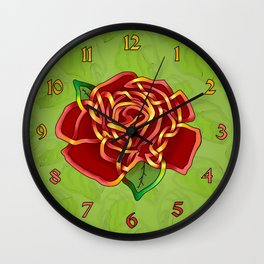 Celtic Knot Rose Wall Clock