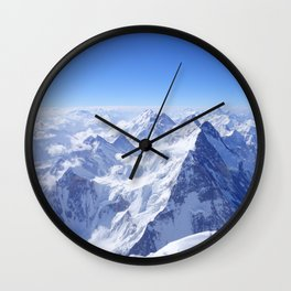 Mountains in Snow Wall Clock