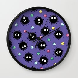 Soot Sprites (Purple) Wall Clock