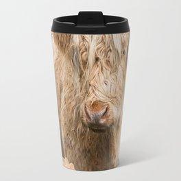 Flower Cow Travel Mug