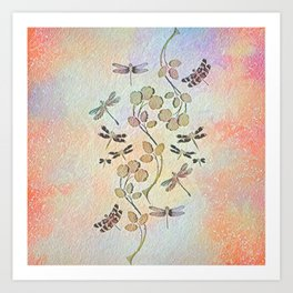 Dragonfly Dance Art Print