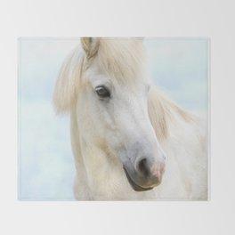Icelandic Horse Throw Blanket