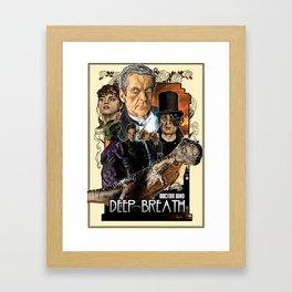 Doctor Who: Deep Breath Framed Art Print