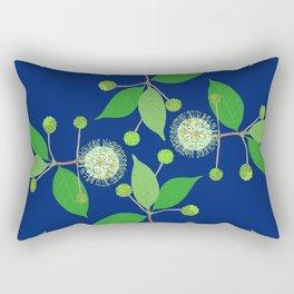 2941 Australian Buttonbush Blue Dark Rectangular Pillow