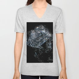 Clear Crumpled Plastic Unisex V-Neck