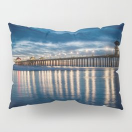 Huntington Beach Pier Sunset Blues  1-29-18 Pillow Sham