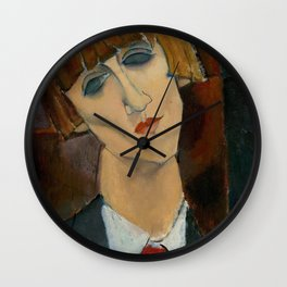 Madame Kisling by Amedeo Modigliani Wall Clock