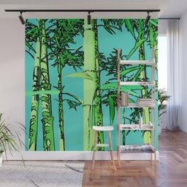 Bamboo cartoonized Wall Mural